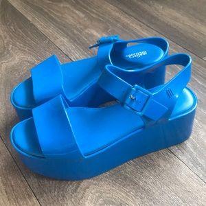 Melissa | Mar Flatform Jelly Sandal - Blue